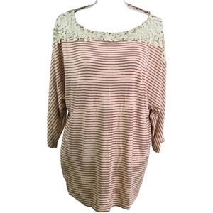 Loveappella Striped Top NWT